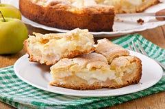 Apple pie with custard Royalty Free Stock Photos