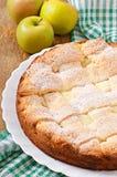 Apple pie with custard Stock Photography