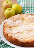 Apple pie with custard Royalty Free Stock Image