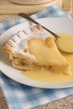 Apple pie and custard Stock Images