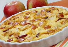 Apple pie dessert. On table Royalty Free Stock Images