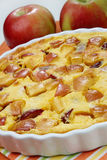 Apple pie dessert. On table Royalty Free Stock Photography