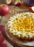 Apple pie. Dough for cookies Stock Photo