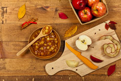 Apple Pie Filling Stock Images