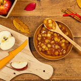 Apple Pie Filling Stock Image
