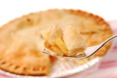 Apple pie on a fork Royalty Free Stock Image