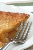 Apple Pie and Fork Royalty Free Stock Photography