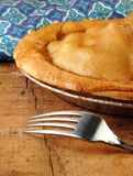 Apple Pie with Fork Stock Photography