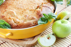 Apple pie. Fragrant homemade cakes Royalty Free Stock Photos