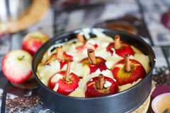 Apple pie with fresh fruits Royalty Free Stock Photos