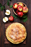 Apple pie and fresh fruits Stock Image