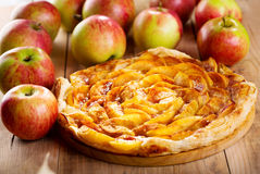 Apple pie with fresh fruits Stock Images