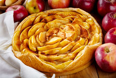 Apple pie with fresh fruits Royalty Free Stock Image