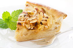 Apple Pie with Fried Almonds Stock Image
