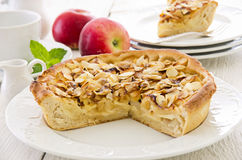Apple Pie with Fried Almonds Royalty Free Stock Image