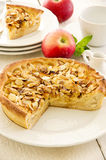 Apple Pie with Fried Almonds Royalty Free Stock Photos