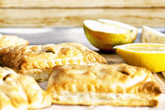 Apple pie with fruit Royalty Free Stock Photos