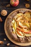 Apple pie galette Stock Photo