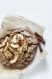 Apple galette. Pie tart with cinnamon for breakfast Stock Images