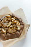 Apple galette. Pie tart with cinnamon for breakfast Stock Photography