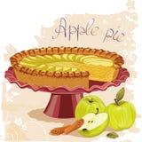 Apple pie royalty free illustration