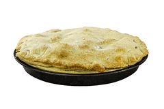 Apple Pie. Home-made apple pie isolated on a white background Stock Images