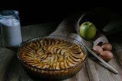 Good apple pie stock photography