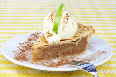 Apple Pie and Ice Cream Royalty Free Stock Photo