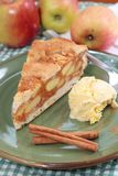 Apple pie with ice cream Royalty Free Stock Image