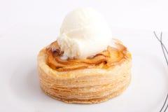 Apple pie with ice cream Stock Photography