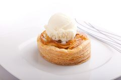 Apple pie with ice cream Royalty Free Stock Photo