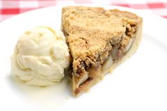 Apple pie with icecream Royalty Free Stock Image