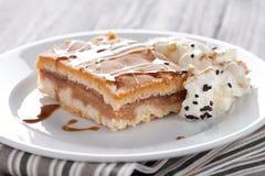 Apple pie with icecream Royalty Free Stock Image