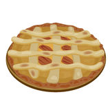Apple Pie. Illustration of an apple pie Royalty Free Stock Images