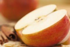 Apple pie ingredients stock photo