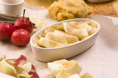 Apple pie ingredients Royalty Free Stock Photos