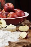Apple Pie Ingredients and Rolling Pin Stock Image