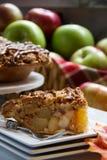 Apple pie ingredients. Slice of deicious apple pie Stock Photo