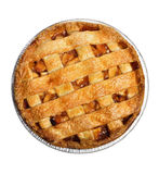 Apple Pie. Isolated On White , Top View stock photo