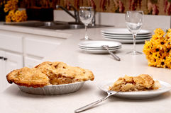 Apple pie in the kitchen Royalty Free Stock Photo