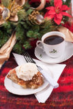 Apple pie a la mode Christmas theme Royalty Free Stock Photo