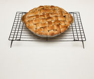 Apple Pie with Lattice Crust and Copy Space Royalty Free Stock Images