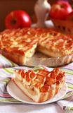 Apple pie with lattice Royalty Free Stock Images