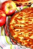 Apple pie with lattice Stock Images
