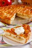 Apple pie with lattice Stock Photo
