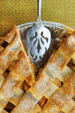 Apple Pie with Lattice Top Stock Images