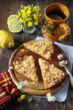 Apple pie and lemon tea Stock Photography