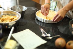 Apple Pie In The Making Royalty Free Stock Photo