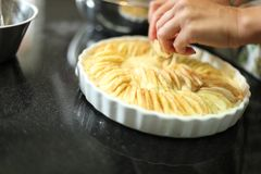 Apple Pie In The Making Stock Photo