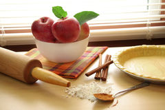 Apple Pie Makings Stock Photography